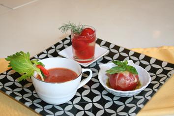 トマトのトリオプレート